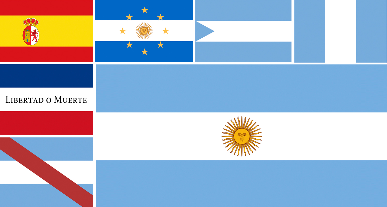 b764b0114 Banderas históricas de Argentina - Argentear